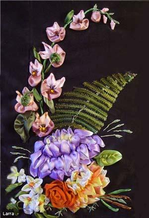 Георгин и орхидея