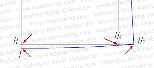 Выкройка домашнего халата Боковая  линия халата