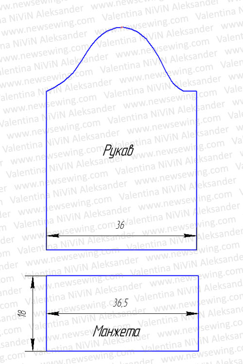 Выкройка домашнего халата базовый чертеж одношовного рукава