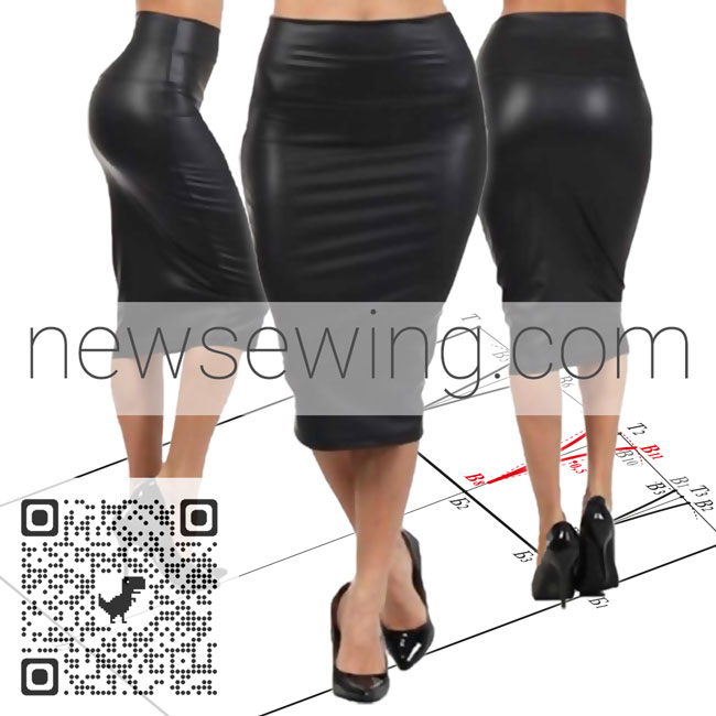 Пошаговое руководство построения выкройки основы юбки на любую фигуру