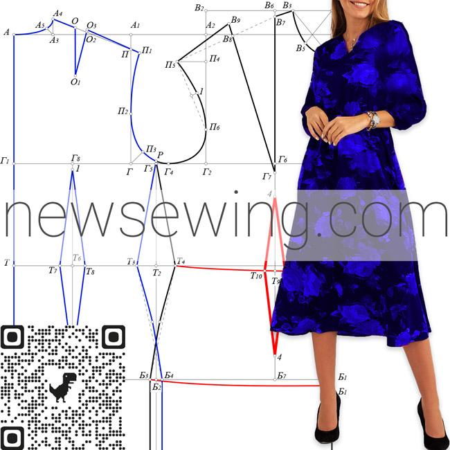 Базовая выкройка платья