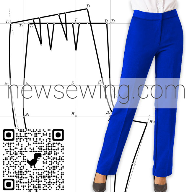 Базовая выкройка женских брюк