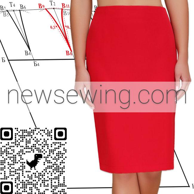 Базовая выкройка юбки
