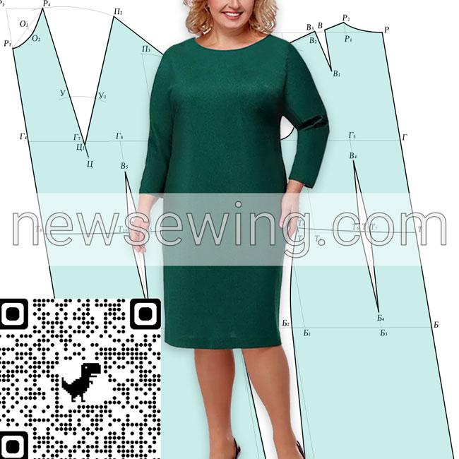 Как построить базовую выкройку платья для полных
