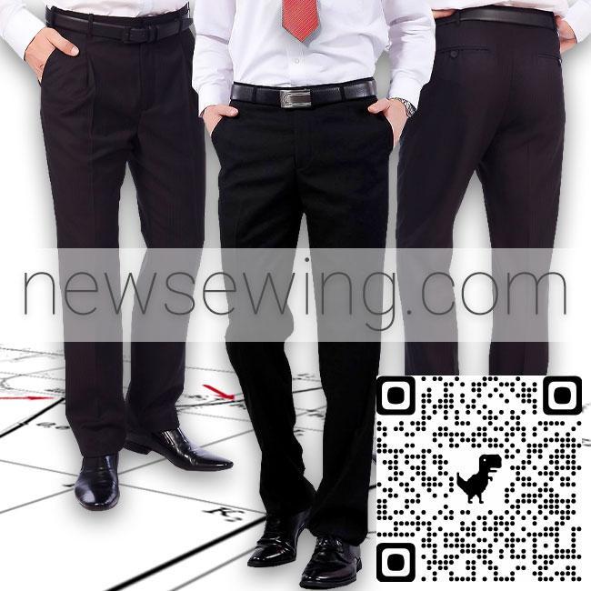 Построение базовой основы выкройки мужских брюк