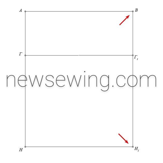Мужская пижама Ширина изделия по линии груди