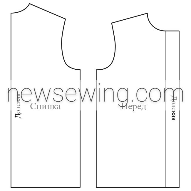 Мужская пижама Ширина горловины переда Высота горловины переда