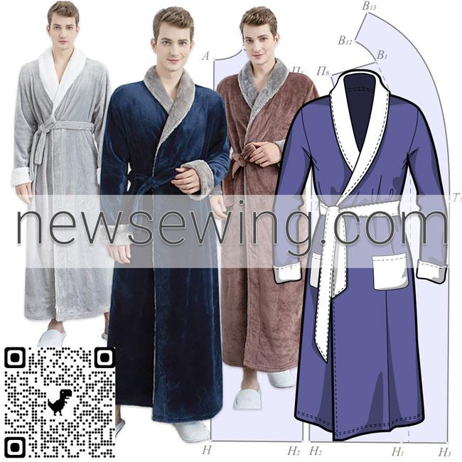 Как построить выкройку мужского халата