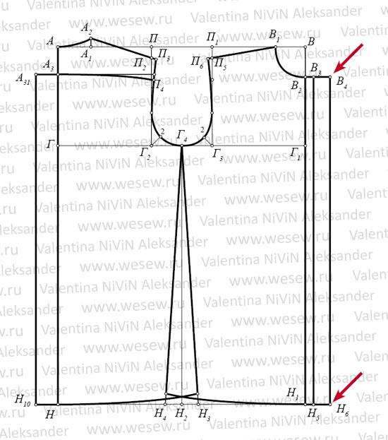 Выкройка рубашки для мальчика 8-10 лет