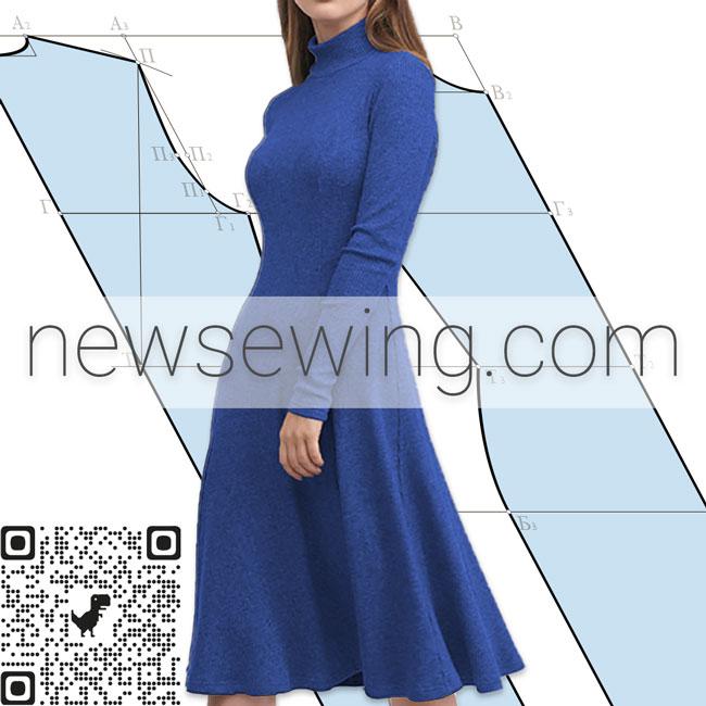 Как построить выкройку платья для пошива из эластичной ткани