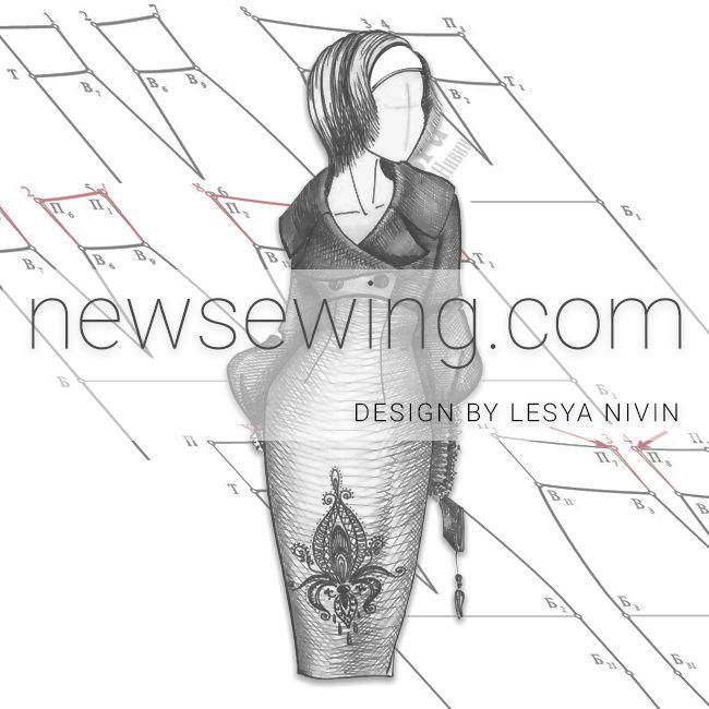 Как легко и просто построить выкройку юбки карандаш с завышенной линией талии