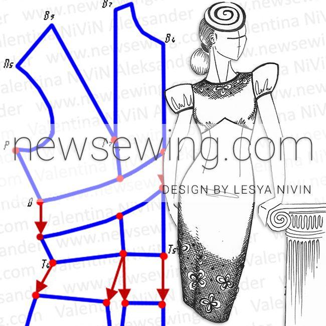 Как выполнить перемещение нагрудной вытачки в подрез под грудь