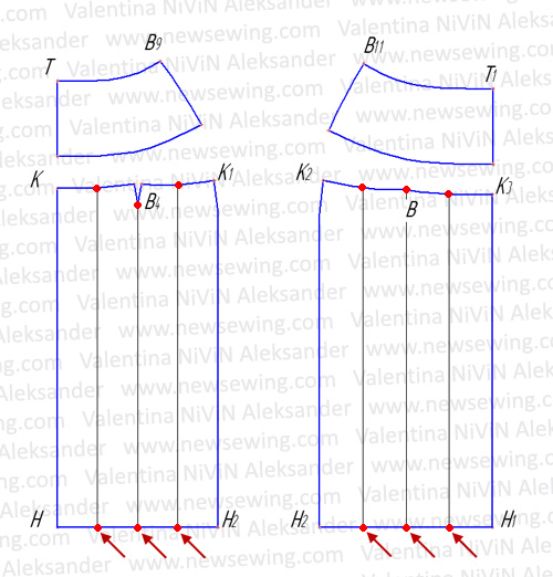 Как соединить юбку с кокеткой