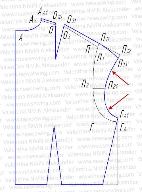 Корректируем боковую линию спинки