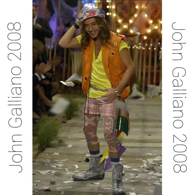 John Galliano, коллекция pret-a-porter весна - лето 2008