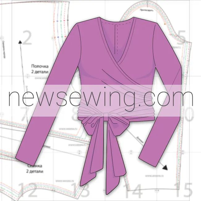 Блузка с запахом бесплатная выкройка