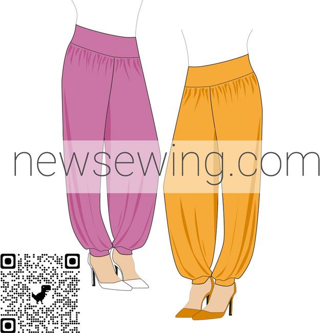 Скачать бесплатно выкройку брюк в восточном стиле