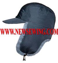 Зимняя шапка ушанка с козырьком  Готовая выкройка