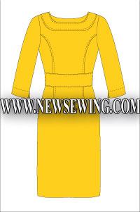 Платье-футляр. Мод 2.