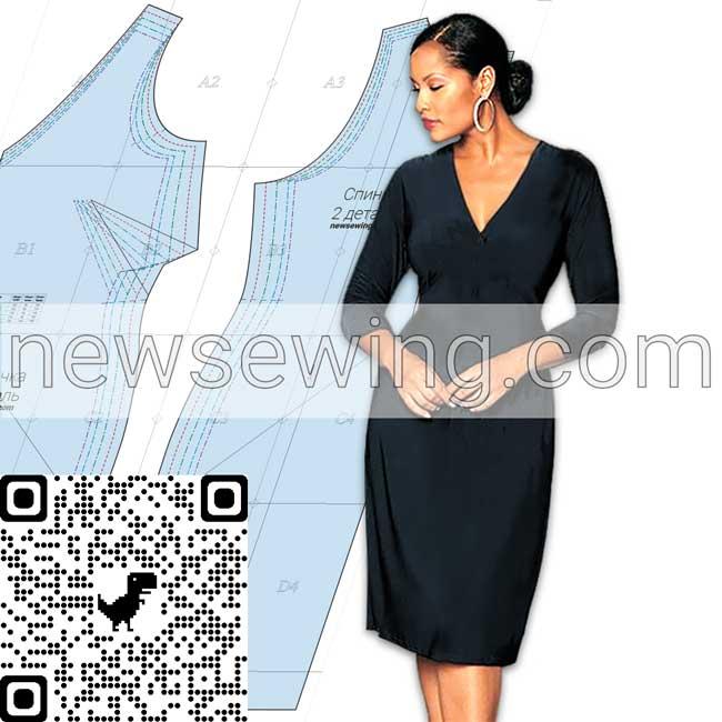 Готовая выкройка платья для полных женщин