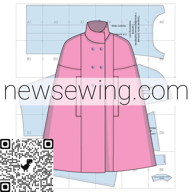 Выкройка пальто-кейп
