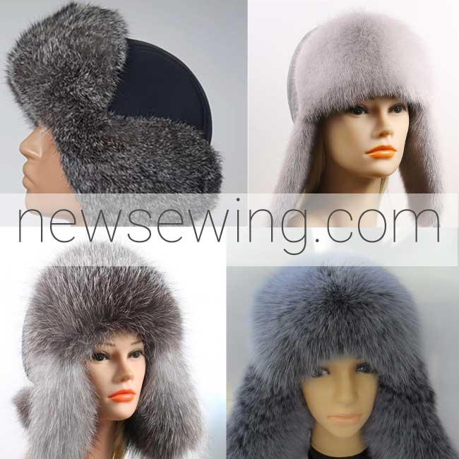Выкройки зимних шапок ушанок 5 моделей