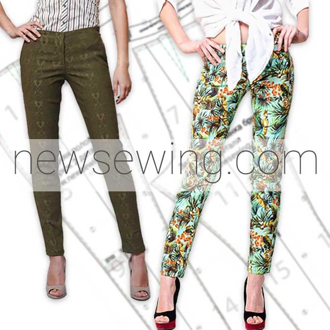 Выкройка модных женских брюк