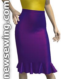 Выкройка стильной юбки с клиньями на основе юбки-карандаш