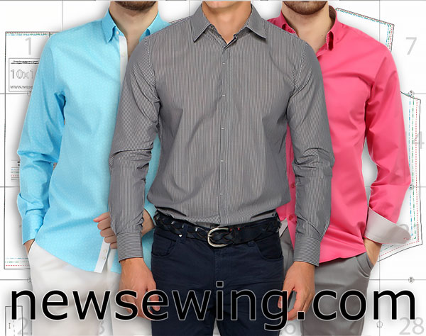 Выкройка мужской сорочки