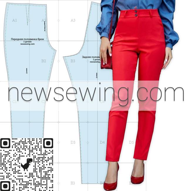 Скачать бесплатно выкройку женских брюк